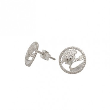 Wanaka Tree earrings silver studs 2